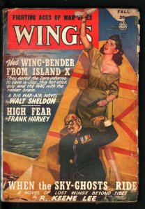 WINGS PULP-FALL 47-BABE SHOOTS JAPANESE EMPEROR IN HEAD VG