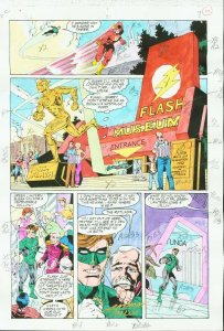 GREEN LANTERN #40-FLASH DC COLORGUIDE PRODUCTION ART VG