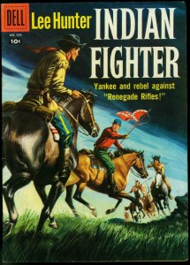 Lee Hunter Indian Fighter- Four Color Comics #904- Dell Western FN