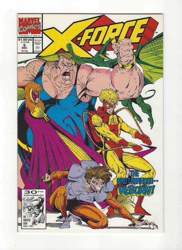 X-Force #5 VS Brotherhood of Evil Mutants NM