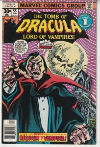 Tomb of Dracula(vol. 1) # 55  The most unexpected foe of all !