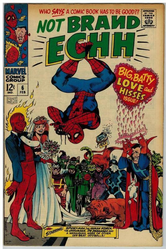 NOT BRAND ECHH 6 FINE Feb. 1968 COMICS BOOK
