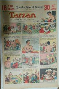 Tarzan Sunday Page #380 Burne Hogarth from 6/19/1938 Very Rare! Full Page Size