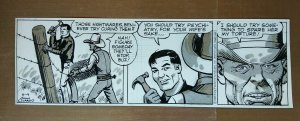 Buz Sawyer Original Comic Strip Art By John Celardo 6/4/1985 daily
