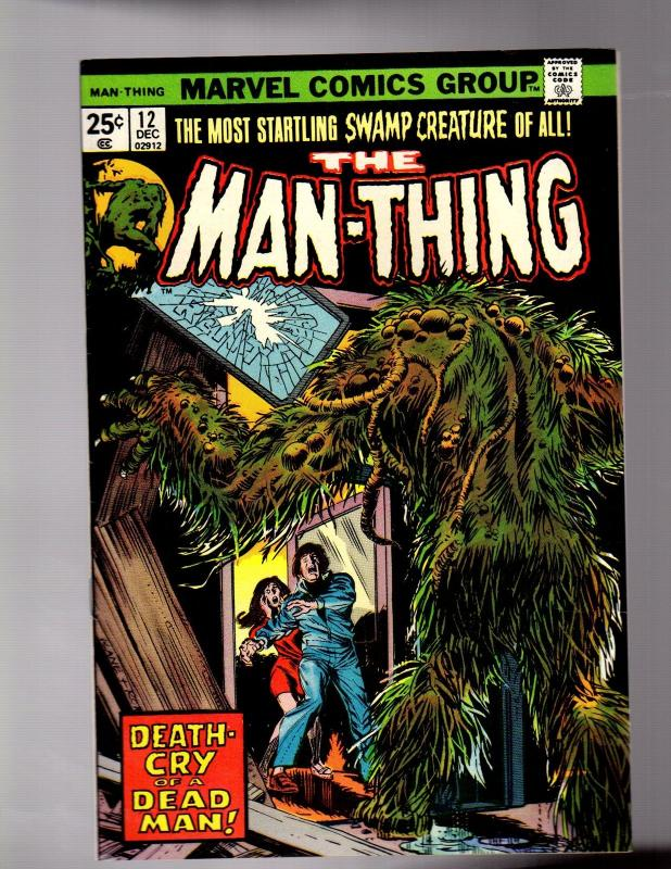 MAN THING (1974) 12 FINE PLUS Dec. 1974