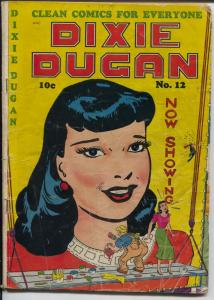 Dixie Dugan #12 1949-ACG-headlight interior art-Good Girl Art cover-VG-