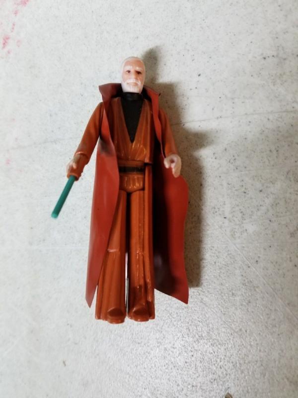 Obi Wan Kenobi White Hair Kenner Action Figure Star Wars 1977 Skywalker TWT1