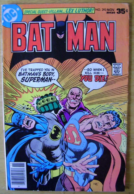 BATMAN #293 (ICONIC COVER) GUEST STARRING SUPERMAN & LEX LUTHOR 6.5 $12.00