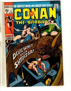Conan The Barbarian # 6 VF/NM Marvel Comic Book Barry Smith Sword Sorcery FM3