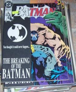 Batman #497 (Jul 1993, DC) BANE BREAKS BATMANS BACK KNIGHTFALL PT 11