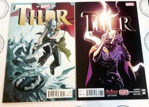 Thor #1 1:25 Staples Variant + Thor #8 Jane Foster Lady Thor Revealed 2014 VF/NM