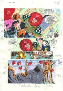 TEEN TITANS #7-PRODUCTION ART-COLOR GUIDE PG 17-JIMINEZ VG