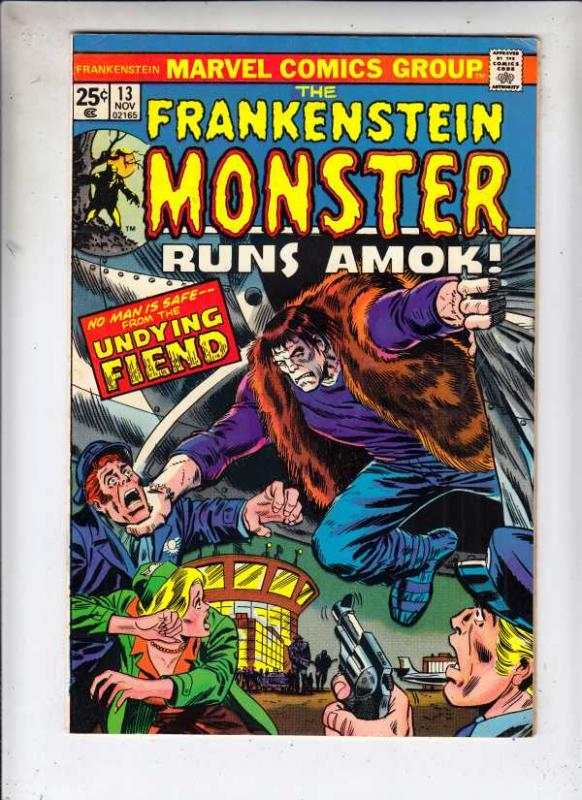Frankenstein, the Monster of #13 (Nov-74) FN/VF Mid-High-Grade Frankenstein