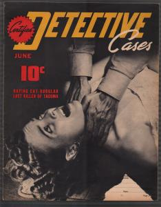 Certified Detective Cases #1 6/1940-1st issue-Nazi-lurid-violent pulp-G/VG