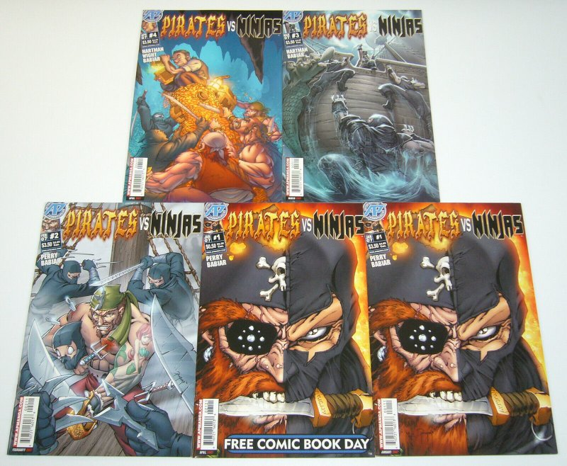 Pirates vs Ninjas #1-4 VF/NM complete series + variant - fred perry set lot