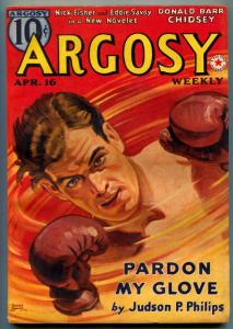 Argosy Pulp April 16 1938- Red Star of Tarzan part 5- Burroughs