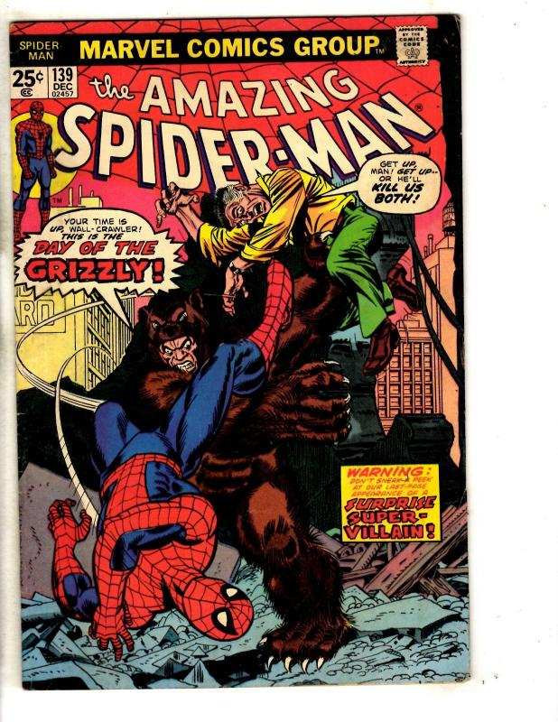 Amazing Spider-Man # 139 FN Marvel Comic Book Green Goblin Vulture Mary J JG9