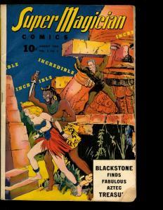 Super Magician Comics Vol. # 3 # 4 VG 1944 Golden Age Comic Book Voodoo NE3