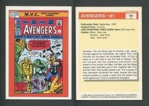 1990 Marvel Comics Card  #130 (Avengers #1 Cover) NM-MT