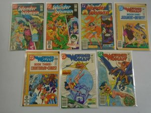Wonder Woman lot 7 different from #279-299 avg 6.0 FN (1981-83 1st Series)
