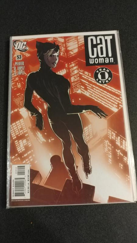 CATWOMAN 53 ADAM HUGHES COVER HOT HARD TO FIND DC vf