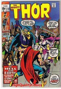 THOR #179, FN+, Jack Kirby, Loki, God, Stan Lee, 1966, (b), Thunder