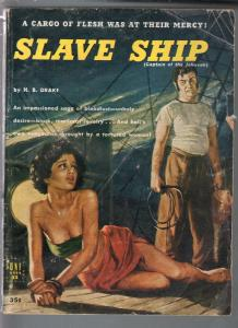 Uni Book #35 1940's-Slave Ship-bondage cover-H.B. Drake-violent-G/VG
