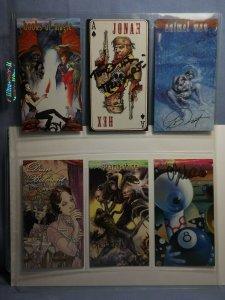 Six 1990s DC Comics VERTIGO Art Trading Cards AUTOGRAPHED MICHAEL KALUTA & MORE