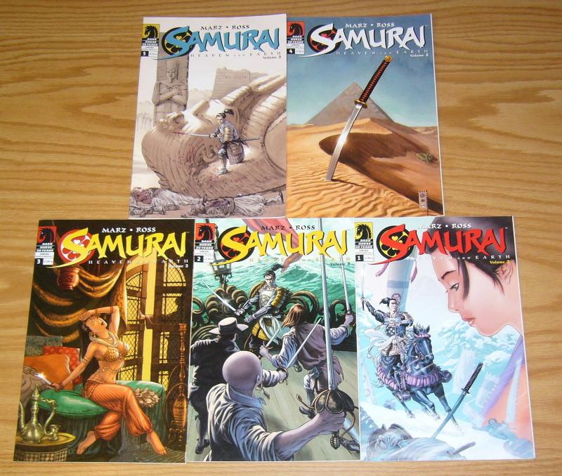 Samurai: Heaven and Earth vol. 2 #1-5 VF/NM complete series - ron marz/luke ross