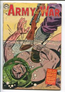 Our Army At War #27 1954-DC Silver Age- Frogman- Hitler G/VG