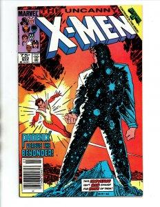 Uncanny X-Men #203 newsstand - 1986 - (-NM)
