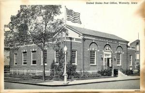 Waverly, Iowa, IA, U.S. Post Office, 1948 Antique Vintage Postcard c5855