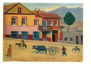 Martiros Saryan 1880 1972 old tbilisi 1917 oil on canvas
