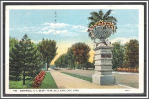 Utah, Salt Lake City Entrance To Liberty Park - [UT-016]