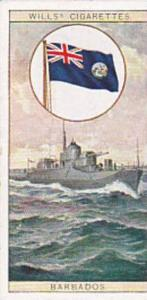 Wills Vintage Cigarette Card Flags Of The Empire 2nd Series 1929 No 4 Barbados