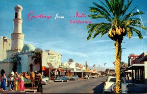 California Indio Greetings Showing Main Street