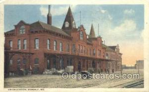 Union Station, Moberly, MO, Missouri, USA Train Railroad Station Depot Post C...
