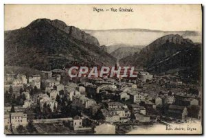 Old Postcard Digne Vue Generale