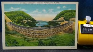 STD Vintage Horseshoe Curve Main Line Pennsylvania Railroad Blair County Unposte