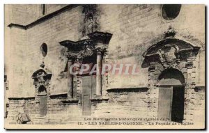 Old Postcard Les Sables D Olonne Historical monument classes in the facade of...