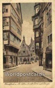 Frankfurt A M Germany, Deutschland Postcard Alter Markt Blick auf Romer  Alte...