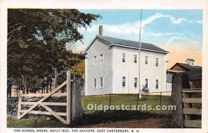 The School House Built 1823 Shakers East Canterbury, NH, USA Unused