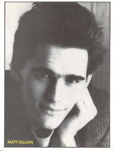 Postcard Matt Dillon 1986 from Blue Jeans Magazine by D.C Thompson #D