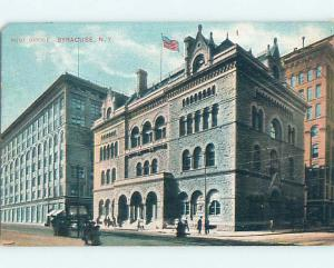 Divided Back POST OFFICE SCENE Syracuse New York NY hs1861