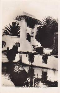 RP; Tripoli , Libya , 20-30s ; Arab well in garden of Lalla Sciauia