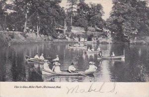 Indiana Richmond View In Glen Miller Park Canoeing 1907