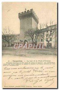Old Postcard Carpentras Tower Gate Orange