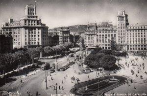 RP: BARCELONA , Spain , 1930-40s ; Plaza y Rambla De Caraluna