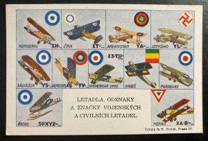 Mint Czechoslovakia Color Picture Postcard PPC aircraft badges and emblems
