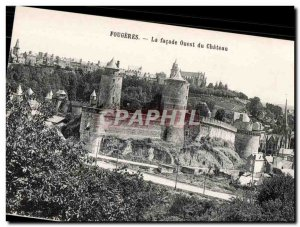 Old Postcard Fougeres The Facade Western Chateau